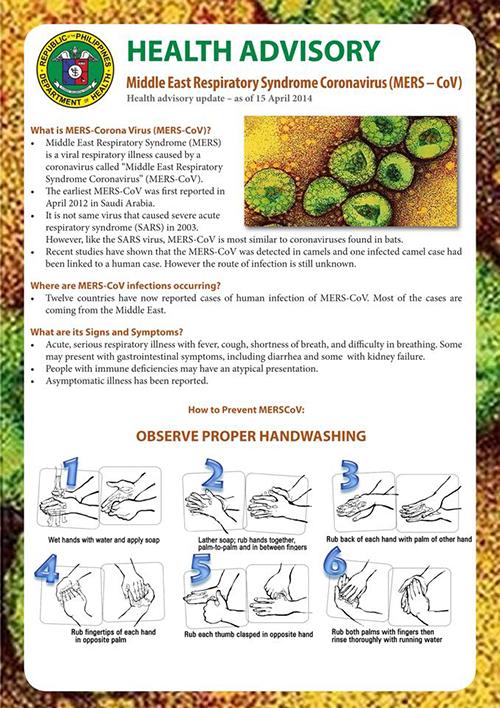 MERS-COV ADVISORY1
